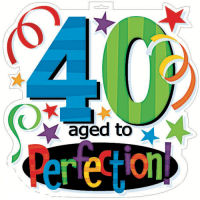 200x200 40th Birthday Clipart Free