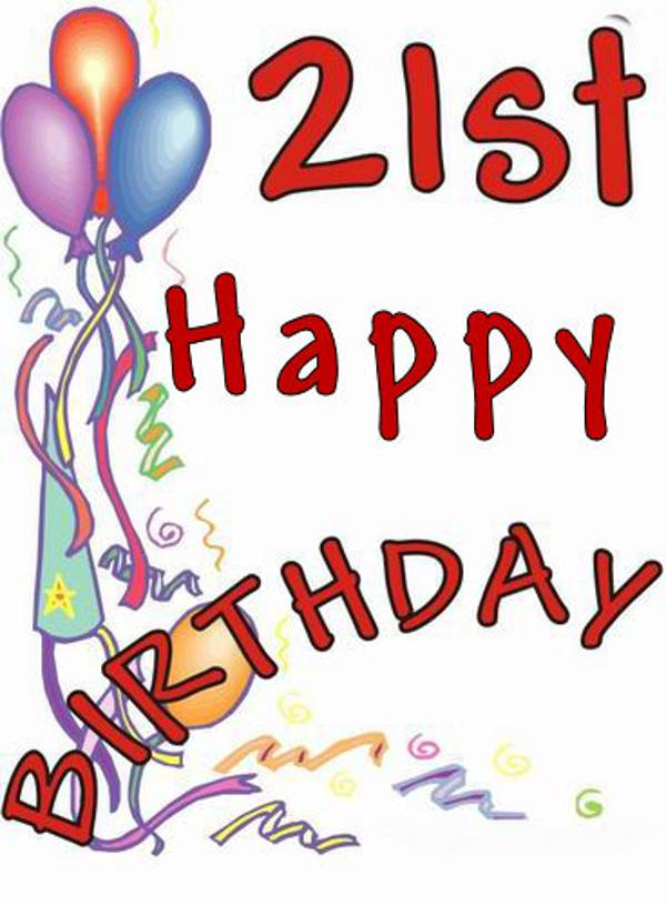 600x815 Free 21st Birthday Clipart