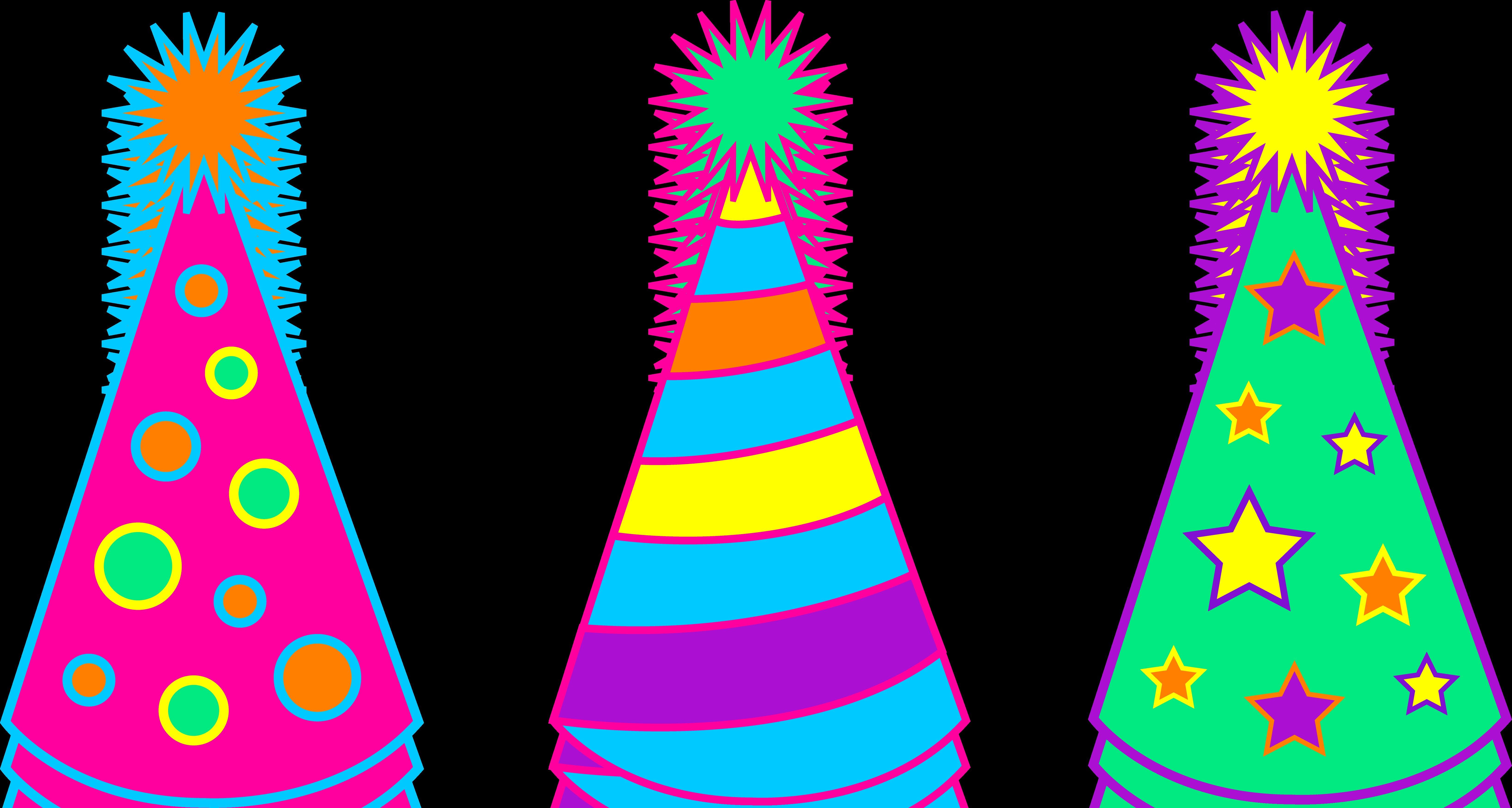 6547x3502 Birthday Clipart Hat