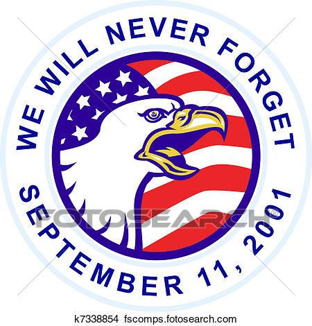 450x470 Drawing Of 9 11 American Bald Eagle Flag K5364533