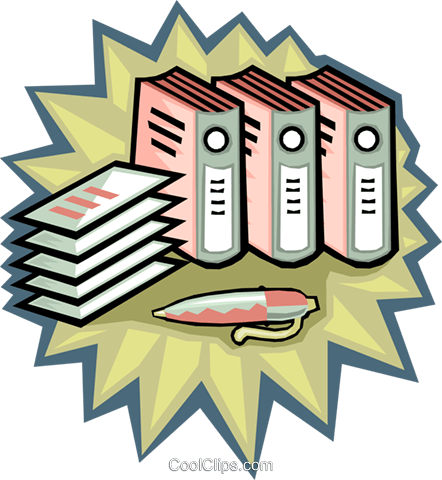 442x480 Financial Records, Accounting Books Royalty Free Vector Clip Art