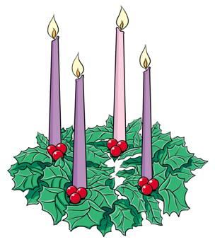 304x342 Advent Wreath Clipart