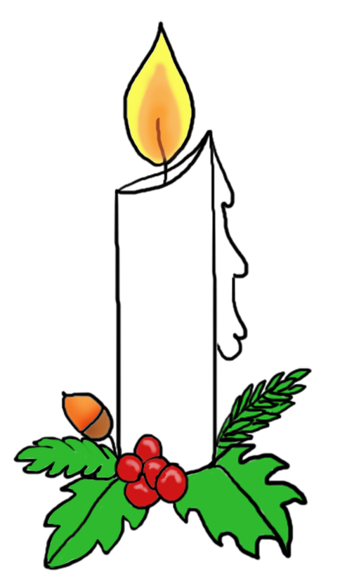 504x827 Candlelight Service Clipart