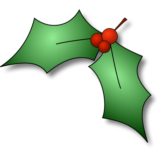 600x600 Free Holly Clipart
