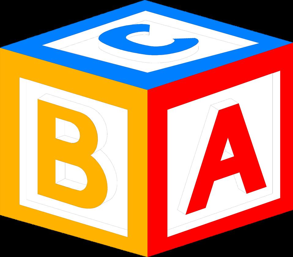 958x841 Baby Block Alphabet Letters Clipart
