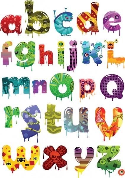422x600 Cartoon Alphabet Letters Clip Art