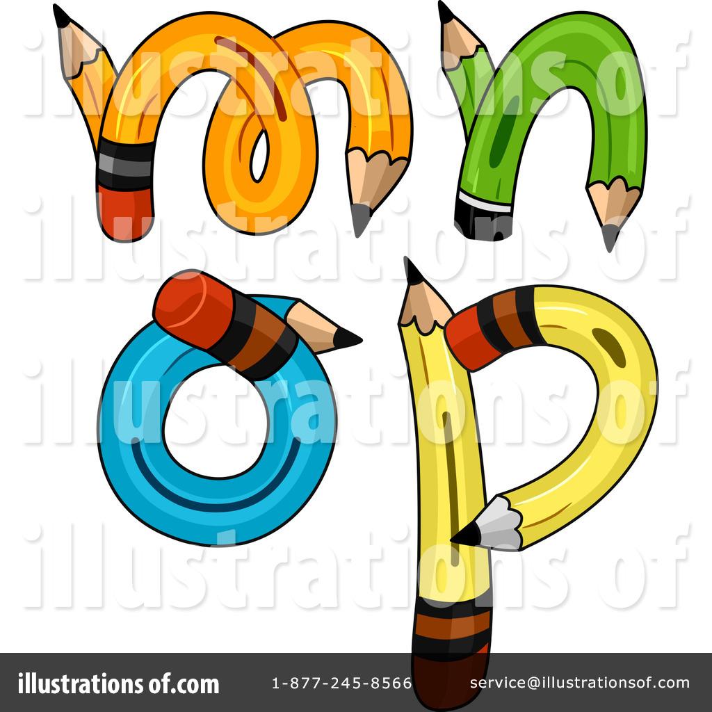 1024x1024 Pencil Letters Clipart