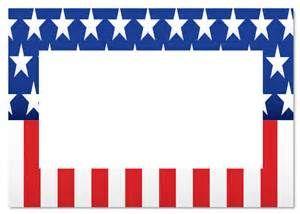 american flag border powerpoint