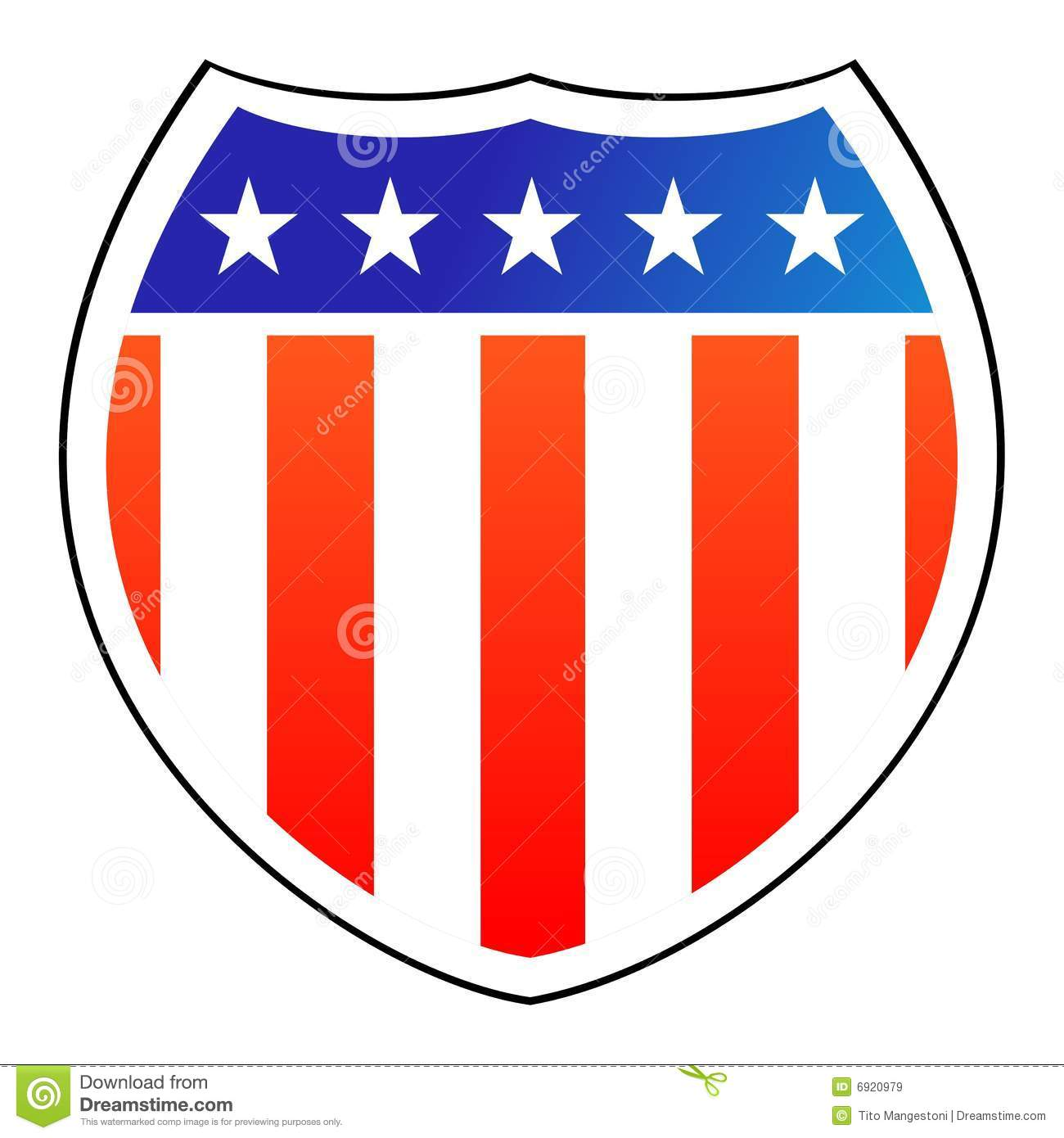 1300x1390 American Flag Clipart Shield
