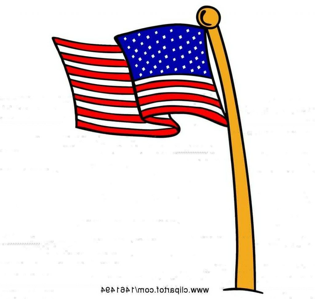 1024x971 Best 15 Clipart Of Cartoon American Flag Pole Royalty Free Vector