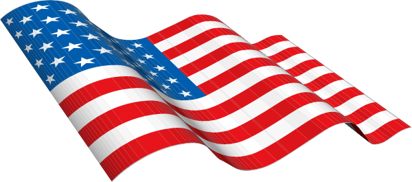 600x265 American Flag Vector Clipart Free
