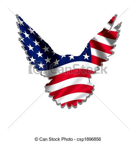 450x470 American Flag Eagle Clipart