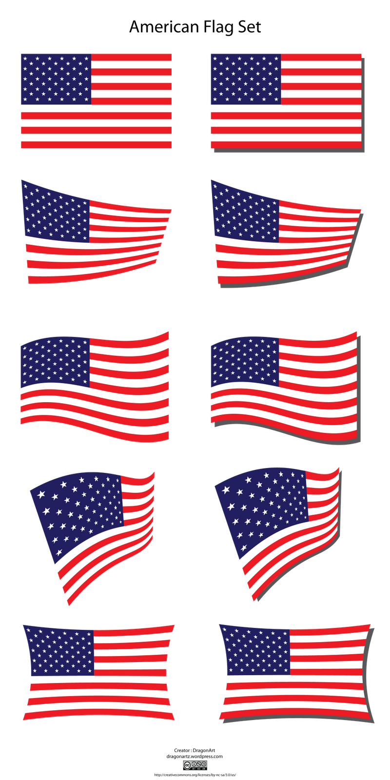 800x1600 Crossed American Flags Clipart