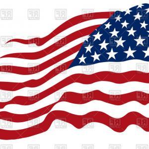 300x300 American Flag Clipart Vectpr