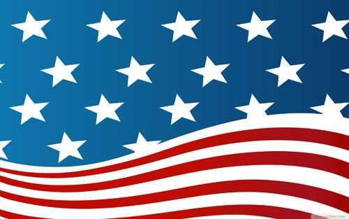 500x313 American Flags Clipart Free Vector 123freevectors On Us Flag