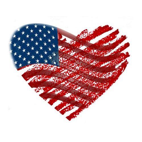 500x500 American Flag Clipart Heart Shaped