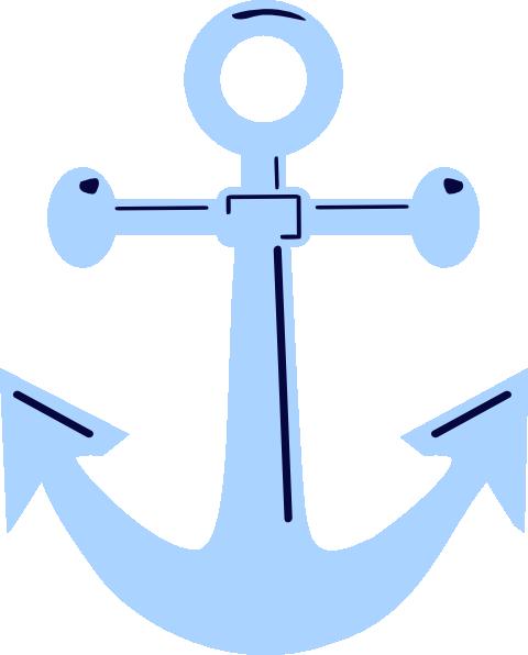 480x596 Anchor Clipart Baby Blue