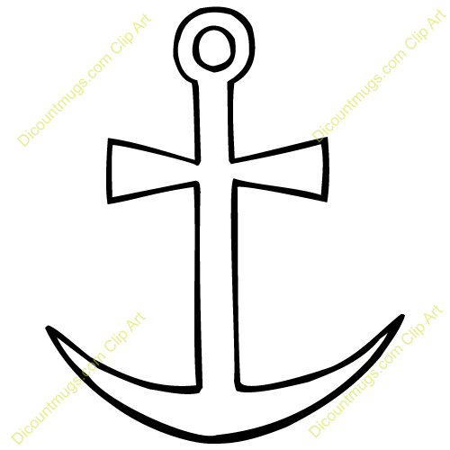 500x500 Anchor Clipart Crossed Anchor