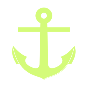 300x300 Green Anchor Clip Art