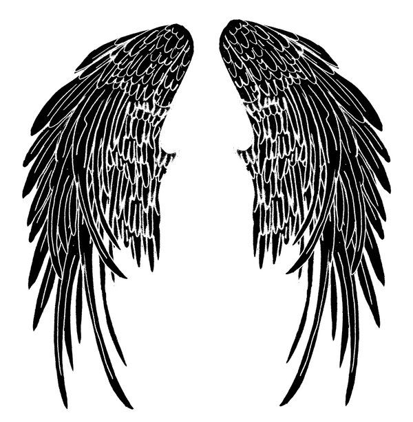 600x614 The Best Angel Wings Png Ideas Angel Wings