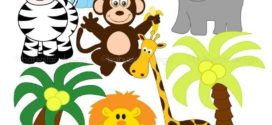 272x125 Jungle Animal Clipart , Safari Clip Art, Jungle Clip Art, Jungle