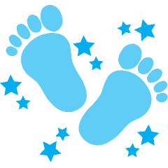 240x240 Free Clip Art Baby Feet Borders Clipart Images 5