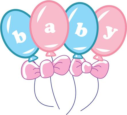 442x400 Free Clipart Baby Shower