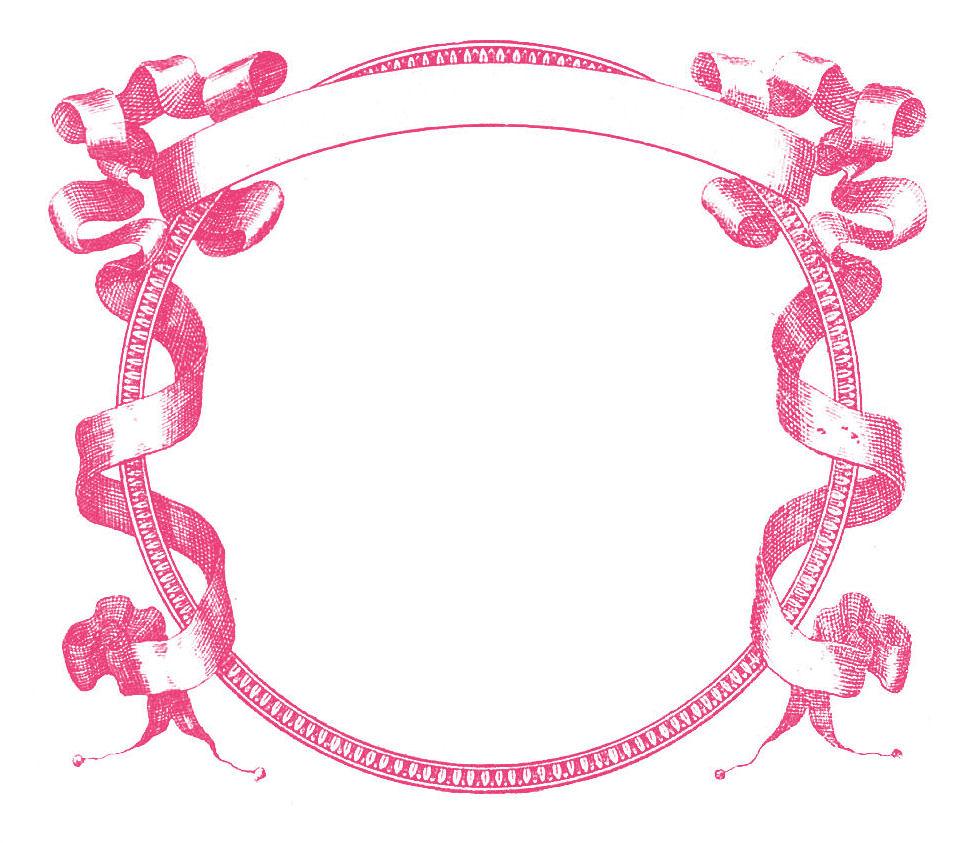 969x843 Pink Ribbon Border Clipart