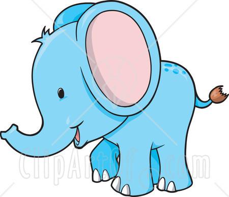 450x387 Blue Clipart Baby Elephant