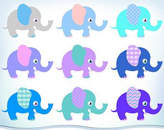 340x270 Elephant Clip Art Etsy