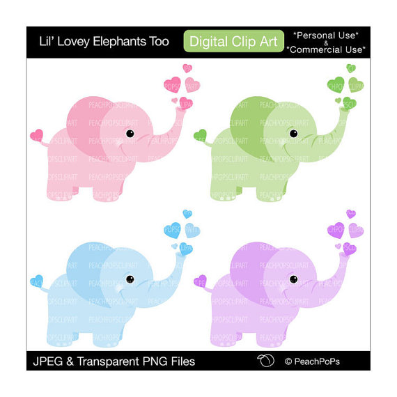 570x570 Elephant Clipart Digital