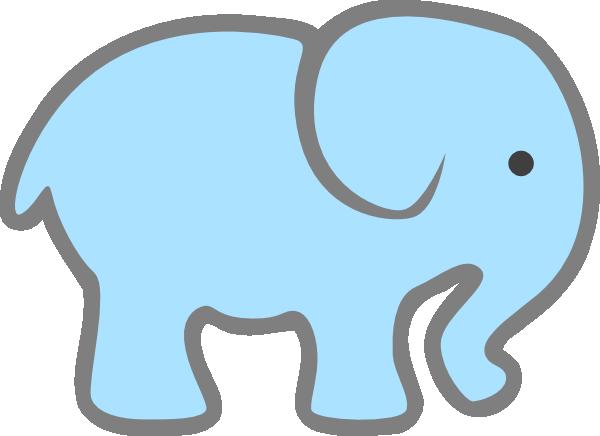 600x436 Lt Blue Baby Elephant Clip Art