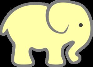 297x216 Yellow Baby Elephant Clip Art