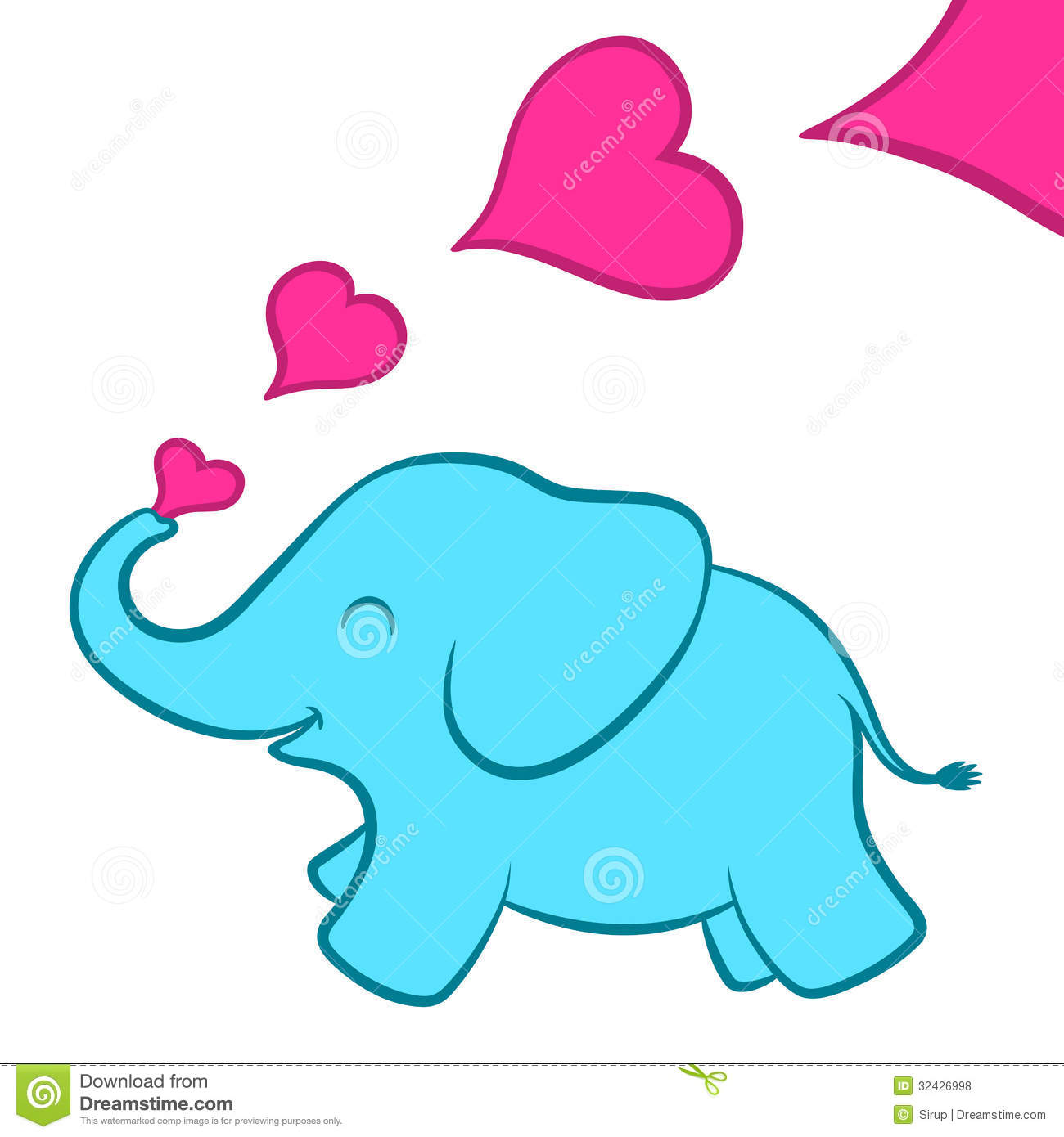 1300x1390 Baby Elephant Outline Clipart