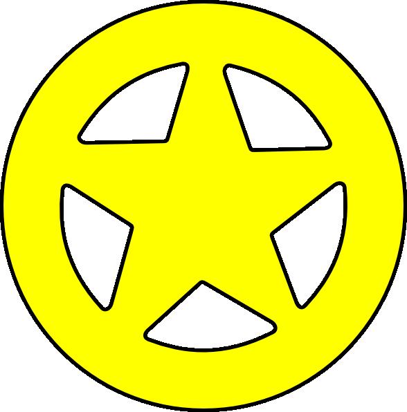 588x596 Free Sheriff Badge Clipart Image