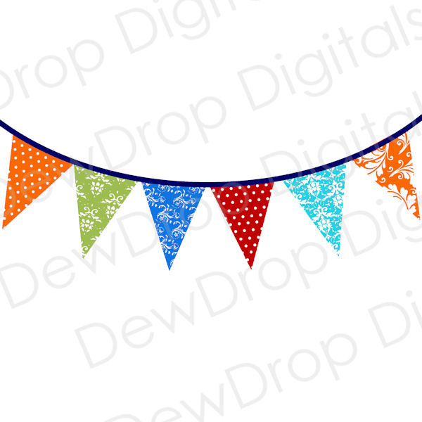 600x600 Bunting Clipart Triangle Banner