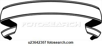 350x159 Free Clipart Round Ribbon Scroll