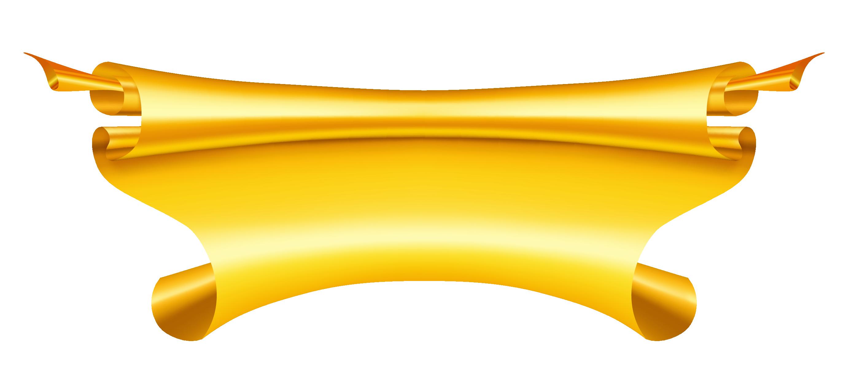 2743x1216 Gold Banner Clipartu200b Gallery Yopriceville