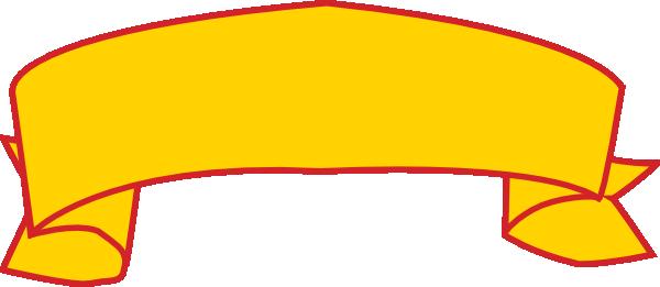 600x261 Gold Red Banner Clip Art