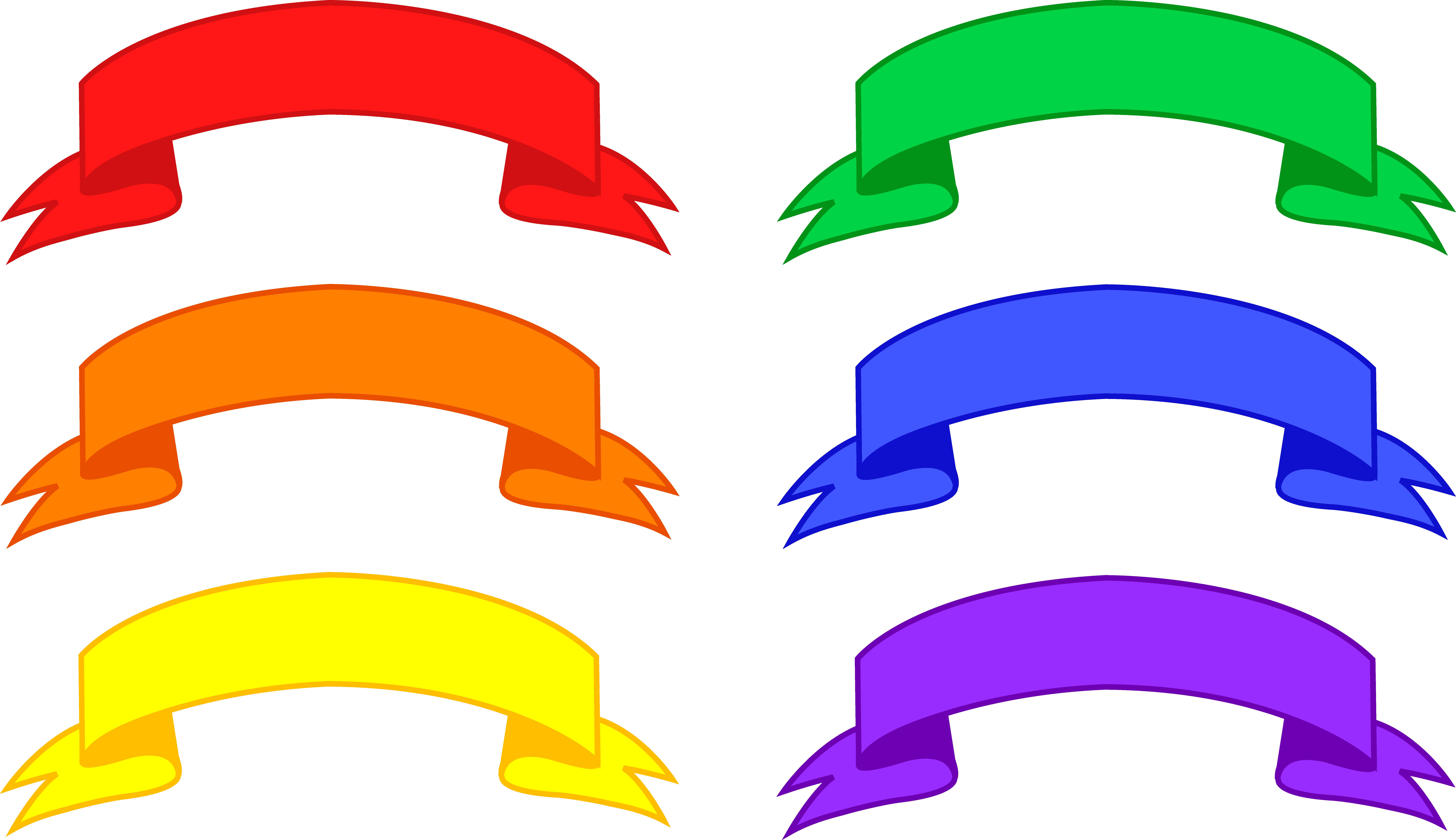 9942x5739 Six Colorful Banners Set
