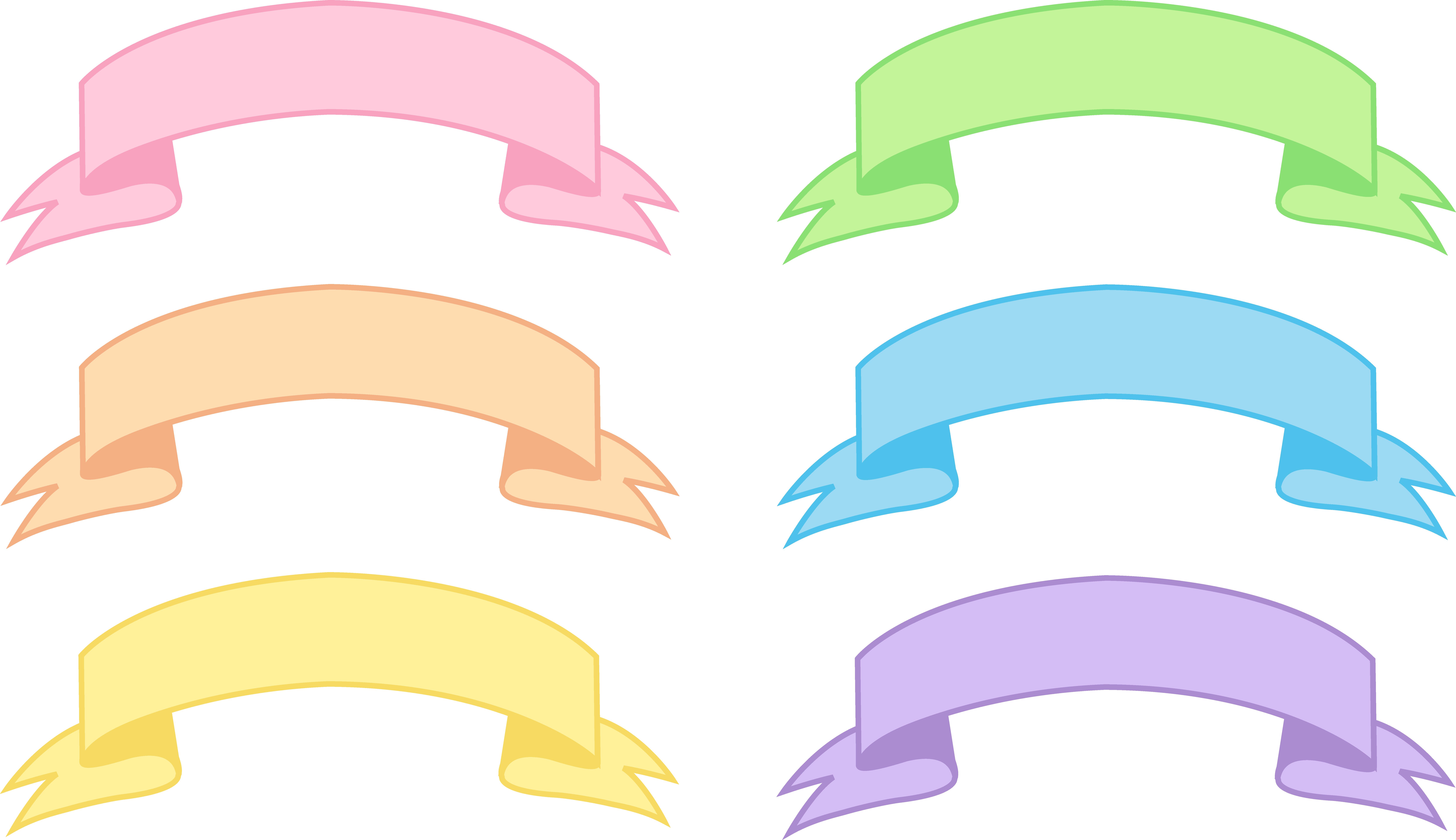 9942x5738 Six Pastel Banners Set