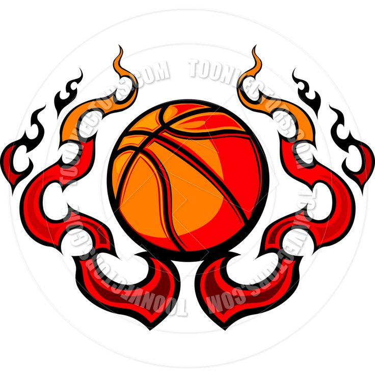 736x736 Clipart Basketball With Flames Microsoft Free