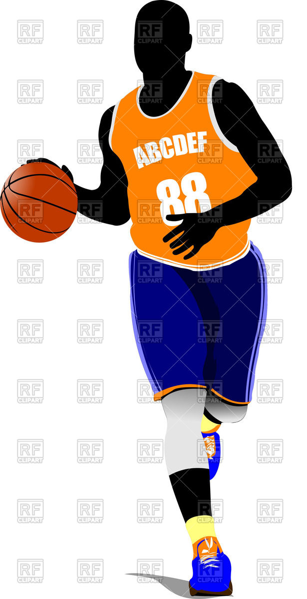 615x1200 Running Basketball Player With Ball