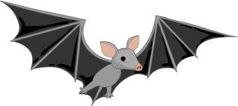340x152 Bat Free Clip Art Image