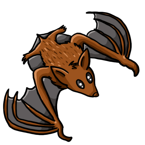 500x500 Halloween Bat Clipart Black And White Free 2