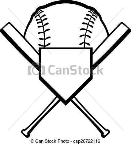 428x470 Baseball Bat Clipart Crossed