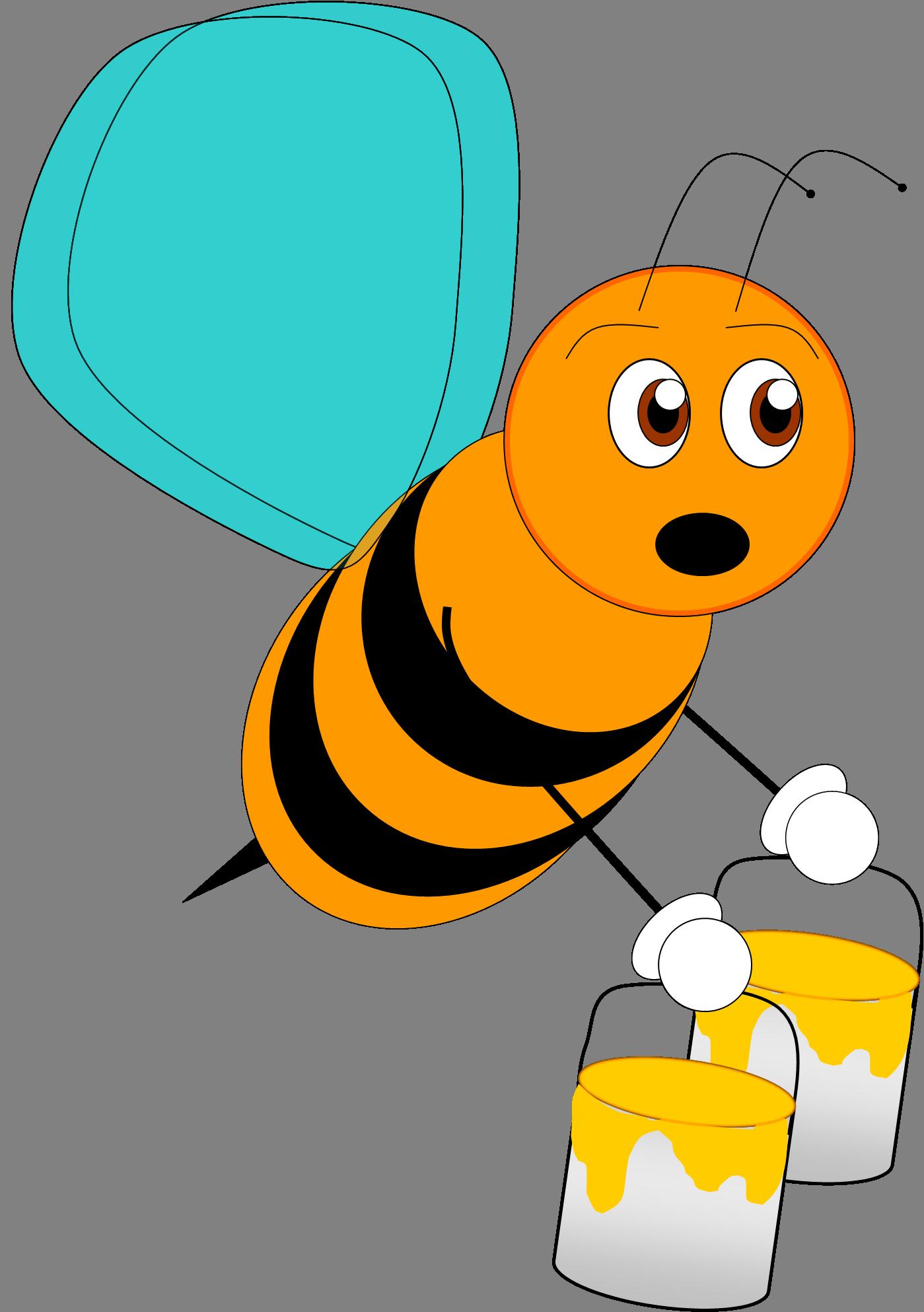 1399x1986 Orange Clipart Bee