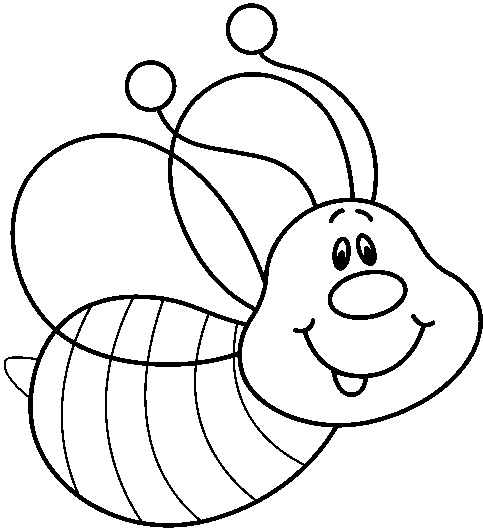 483x529 Cute Bee Clipart Black And White