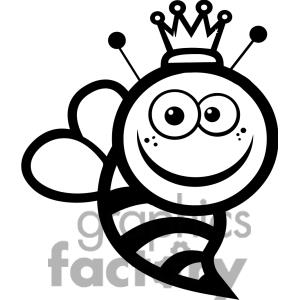 300x300 Cute Bee Clipart Black And White Clipart Panda