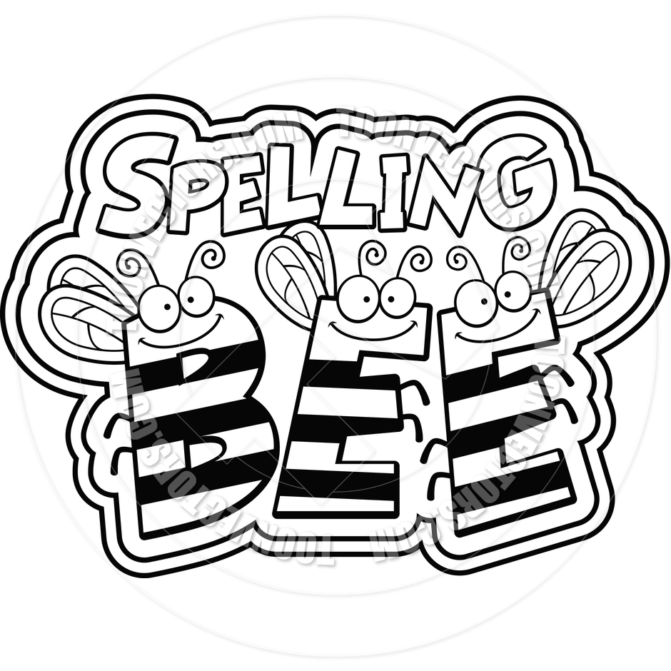 940x940 Spelling Bee Clipart Black And White